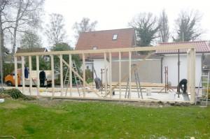 Aufbau eines Hauses in Holzrahmenbauweise 2