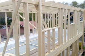 Aufbau eines Hauses in Holzrahmenbauweise 3