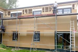 Aufbau eines Hauses in Holzrahmenbauweise 5
